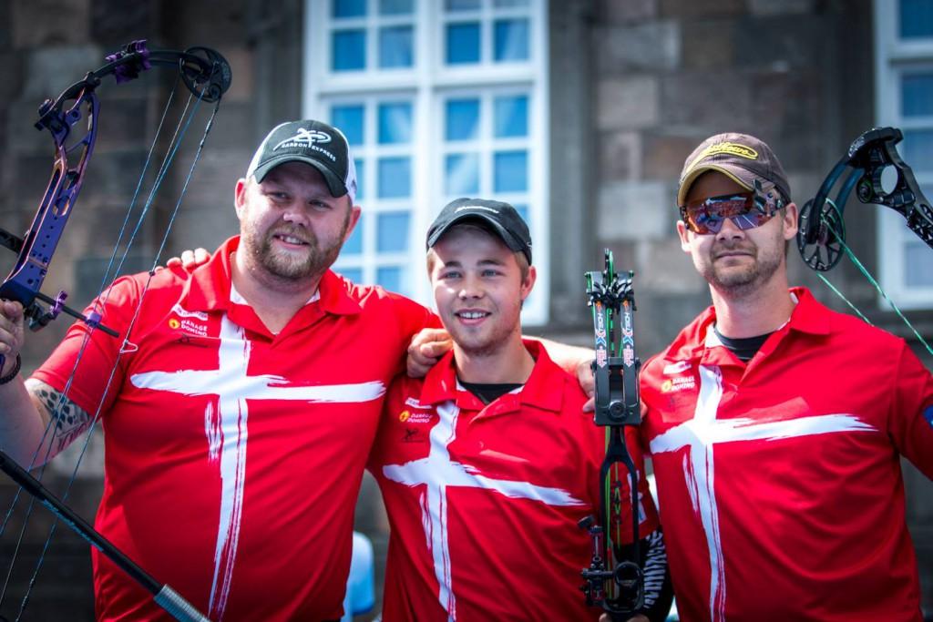 De danske bronzevindere fra venstre - Patrick Laursen, Stephan Hansen og Martin Damsbo