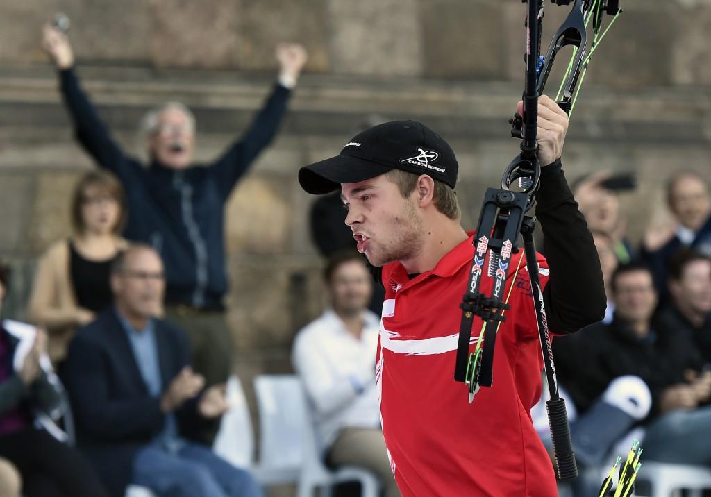 Stephan Hansen bliver verdensmester i Compound for herrer Foto: Lars Møller