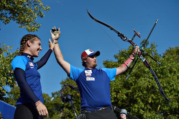 DK Caption: 20160925, Odense, Danmark. Hyundai Archery World Cup - Odense 2016. Recurve. Brady Ellison , USA Foto: Lars Møller UK Caption: 20160925, Odense, Denmark. Hyundai Archery World Cup - Odense 2016. Recurve. Photo: Lars Moeller